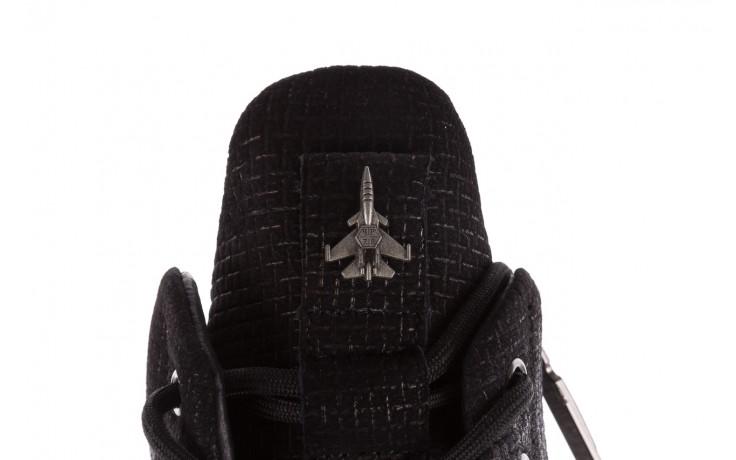 Sneakersy john doubare m7961-1 black, czarny, skóra naturalna  - brooman - nasze marki 8