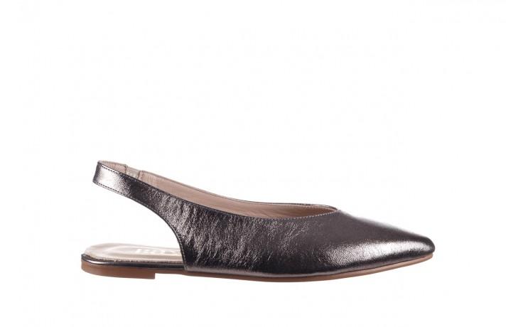 Sandały bayla-161 093 388 4034 platin, srebrny, skóra naturalna - płaskie - sandały - buty damskie - kobieta