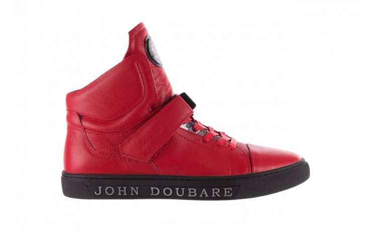 Sneakersy john doubare m78516b-3 red, czerwony, skóra naturalna - brooman - nasze marki