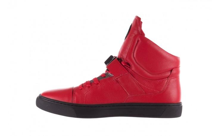 Sneakersy john doubare m78516b-3 red, czerwony, skóra naturalna - brooman - nasze marki 2