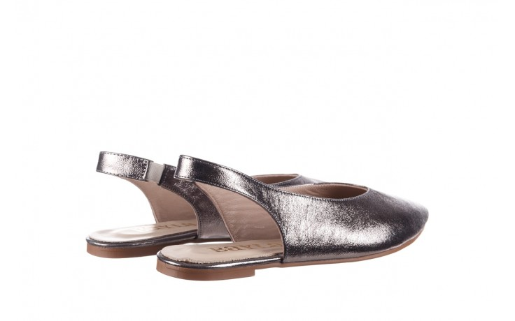 Sandały bayla-161 093 388 4034 platin, srebrny, skóra naturalna - płaskie - sandały - buty damskie - kobieta 3