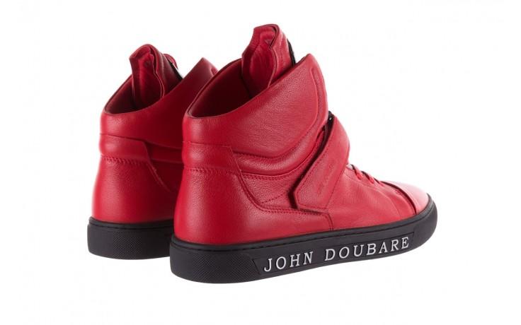 Sneakersy john doubare m78516b-3 red, czerwony, skóra naturalna - brooman - nasze marki 3