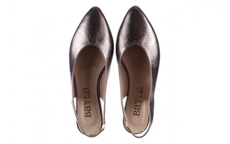 Sandały bayla-161 093 388 4034 platin, srebrny, skóra naturalna - płaskie - sandały - buty damskie - kobieta 4