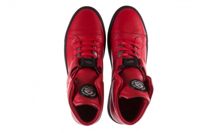 Sneakersy john doubare m78516b-3 red, czerwony, skóra naturalna - brooman - nasze marki 4