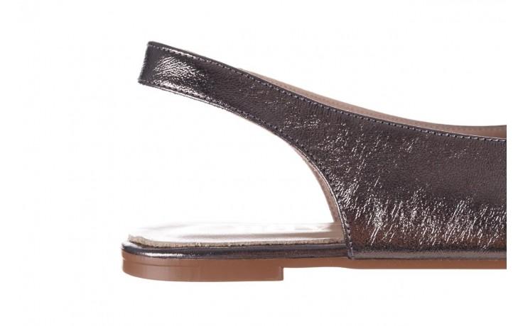 Sandały bayla-161 093 388 4034 platin, srebrny, skóra naturalna - płaskie - sandały - buty damskie - kobieta 6