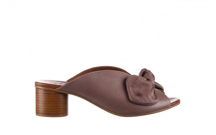 Klapki bayla-161 061 1029 hat, beż, skóra naturalna  - bayla - nasze marki