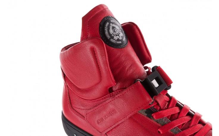 Sneakersy john doubare m78516b-3 red, czerwony, skóra naturalna - brooman - nasze marki 6