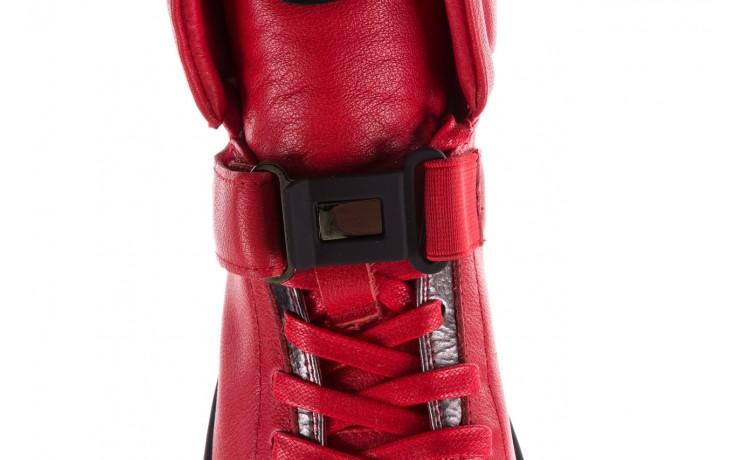 Sneakersy john doubare m78516b-3 red, czerwony, skóra naturalna - brooman - nasze marki 7
