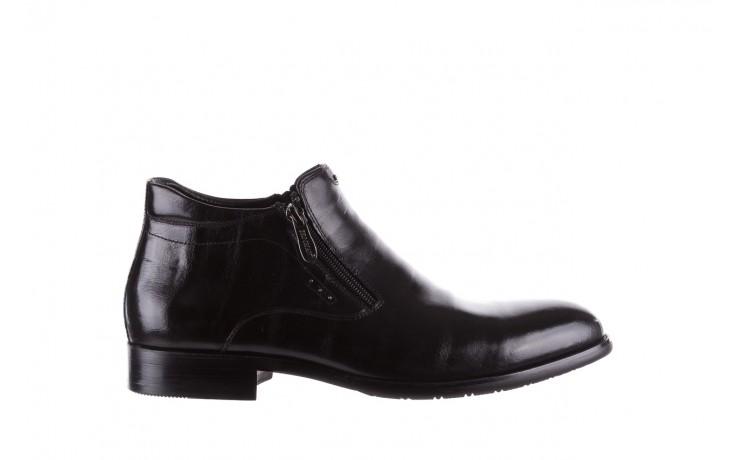 Półbuty brooman 7721b-712g183-r black, czarny, skóra naturalna  - trzewiki - buty męskie - mężczyzna