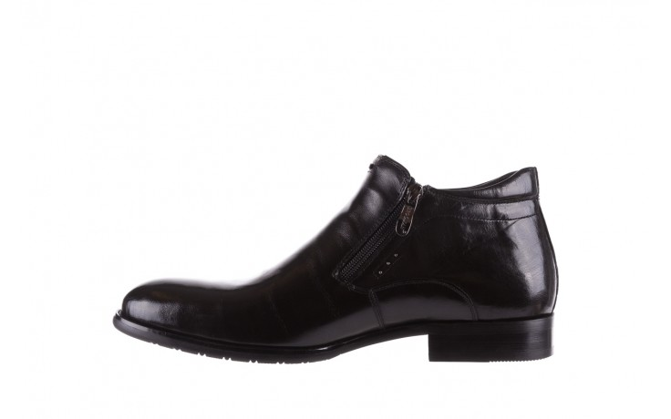 Półbuty brooman 7721b-712g183-r black, czarny, skóra naturalna  - trzewiki - buty męskie - mężczyzna 2