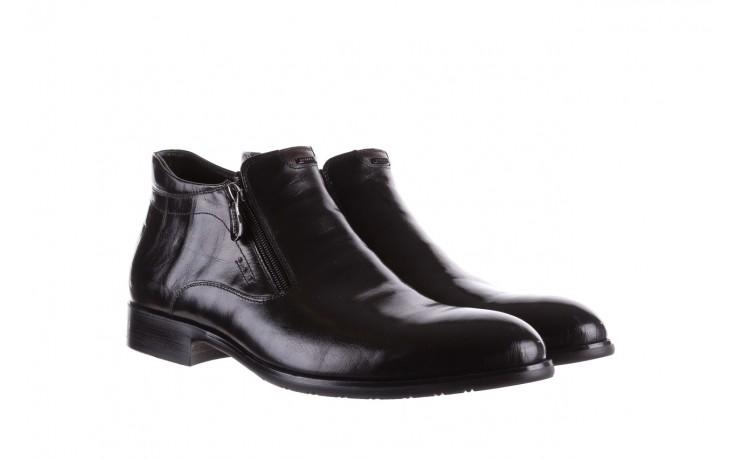 Półbuty brooman 7721b-712g183-r black, czarny, skóra naturalna  - trzewiki - buty męskie - mężczyzna 1