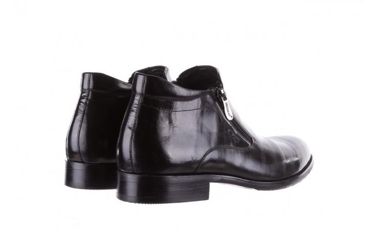 Półbuty brooman 7721b-712g183-r black, czarny, skóra naturalna  - trzewiki - buty męskie - mężczyzna 3