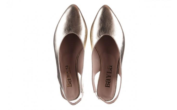 Sandały bayla-161 093 388 4034 gold, złoty, skóra naturalna - sandały - buty damskie - kobieta 4