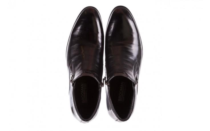Półbuty brooman 7721b-712g183-r black, czarny, skóra naturalna  - trzewiki - buty męskie - mężczyzna 4