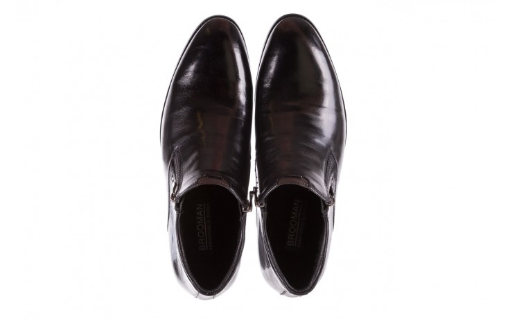Półbuty brooman 7721b-712g183-r black, czarny, skóra naturalna  - bayla exclusive - trendy - mężczyzna 4