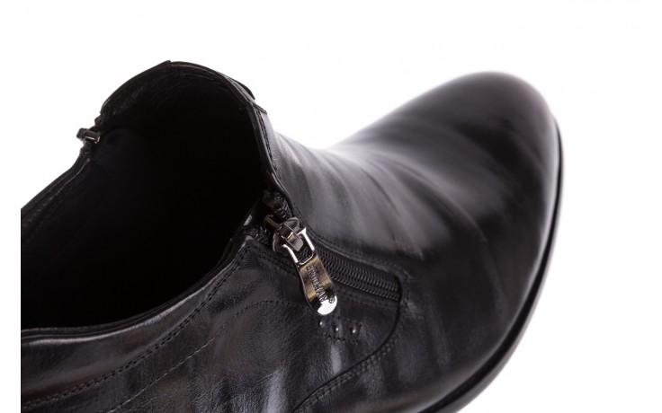 Półbuty brooman 7721b-712g183-r black, czarny, skóra naturalna  - trzewiki - buty męskie - mężczyzna 5