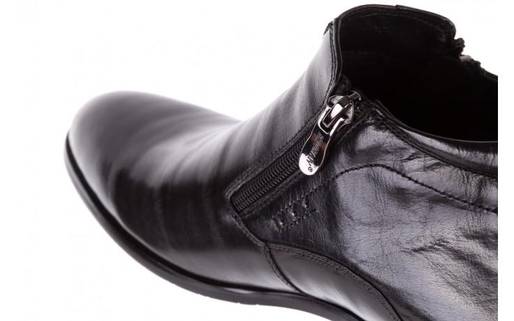 Półbuty brooman 7721b-712g183-r black, czarny, skóra naturalna  - trzewiki - buty męskie - mężczyzna 6