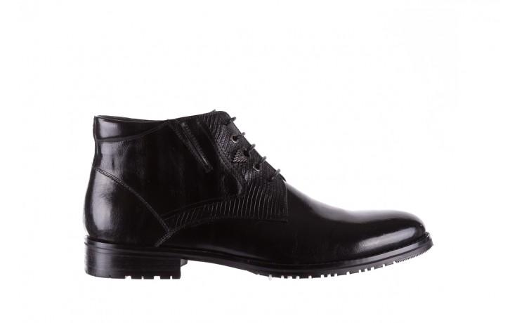 Półbuty brooman 768b-711g183-r black, czarny, skóra naturalna  - obuwie wizytowe - buty męskie - mężczyzna