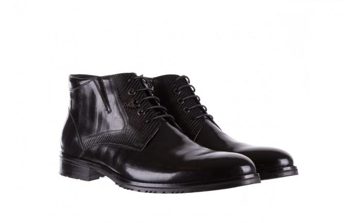 Półbuty brooman 768b-711g183-r black, czarny, skóra naturalna  - obuwie wizytowe - buty męskie - mężczyzna 1