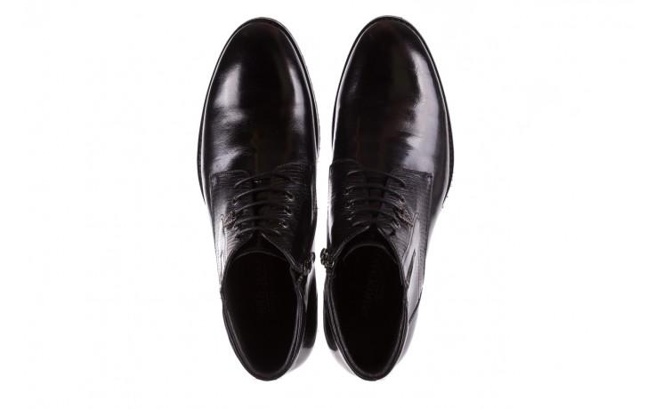 Półbuty brooman 768b-711g183-r black, czarny, skóra naturalna  - obuwie wizytowe - buty męskie - mężczyzna 4