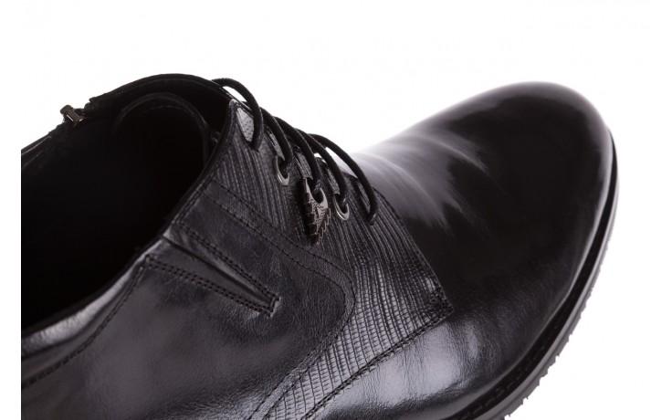 Półbuty brooman 768b-711g183-r black, czarny, skóra naturalna  - obuwie wizytowe - buty męskie - mężczyzna 5