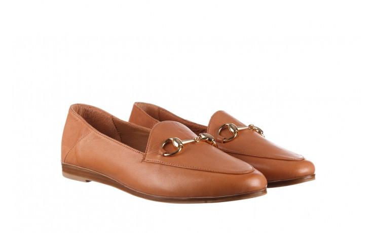 Półbuty bayla-161 138 80127 tan 21 161226, brąz, skóra naturalna  - skórzane - półbuty - buty damskie - kobieta 1