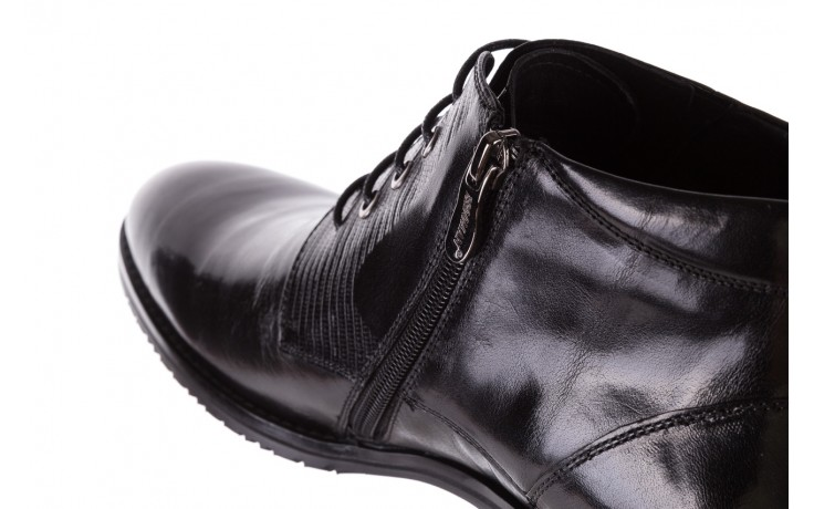 Półbuty brooman 768b-711g183-r black, czarny, skóra naturalna  - brooman - nasze marki 6