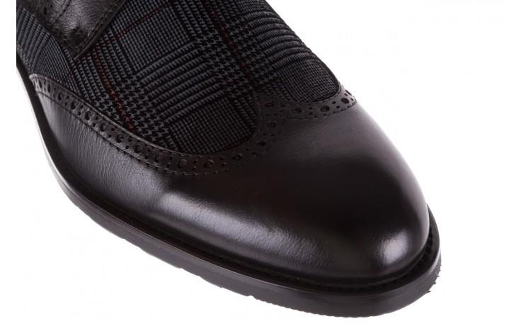 Półbuty brooman a2001-14-75-1-r black, czarny, skóra naturalna  - rozmiar 45 - mężczyzna - mega okazje - ostatnie rozmiary 6