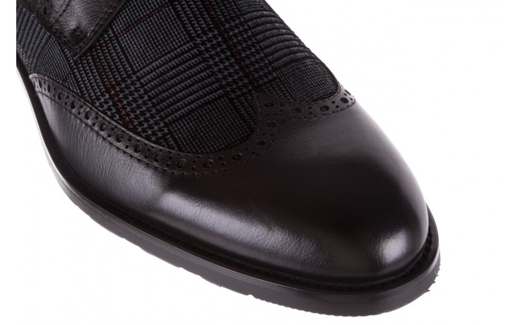 Półbuty brooman a2001-14-75-1-r black, czarny, skóra naturalna  - brooman - nasze marki 6