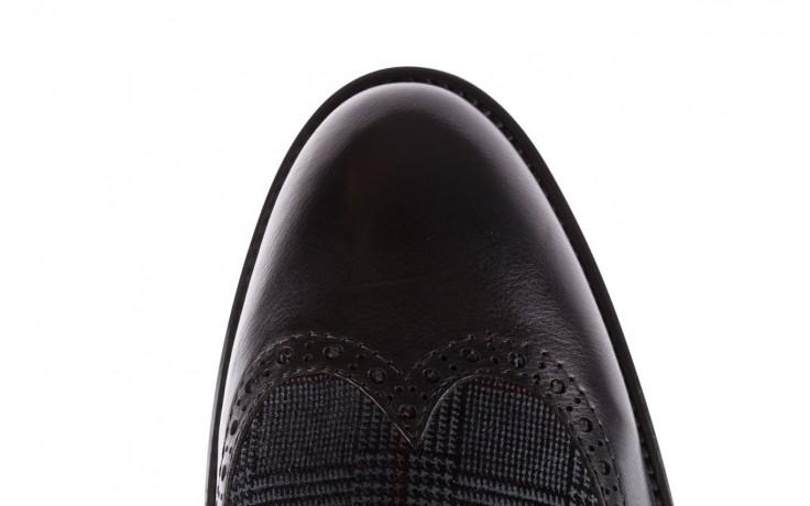 Półbuty brooman a2001-14-75-1-r black, czarny, skóra naturalna  - rozmiar 45 - mężczyzna - mega okazje - ostatnie rozmiary 5