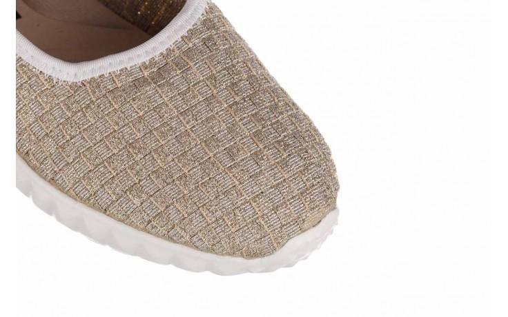 Baleriny rock sanya lt gold ice white binding, złoty, materiał  - baleriny - buty damskie - kobieta 5