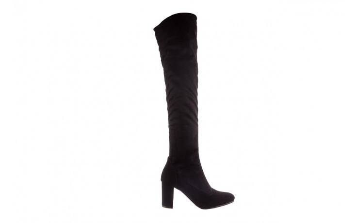 Kozaki bayla-130 4877 czarne kozaki muszkieterki, skóra ekologiczna - za kolano / muszkieterki - kozaki - buty damskie - kobieta