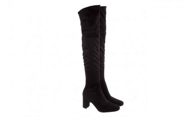 Kozaki bayla-130 4877 czarne kozaki muszkieterki, skóra ekologiczna - za kolano / muszkieterki - kozaki - buty damskie - kobieta 1