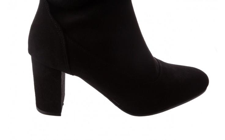 Kozaki bayla-130 4877 czarne kozaki muszkieterki, skóra ekologiczna - za kolano / muszkieterki - kozaki - buty damskie - kobieta 4