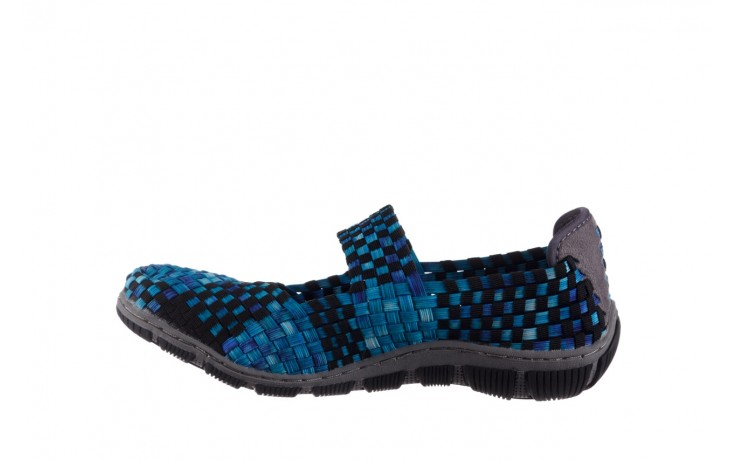 Półbuty rock cape town aqua blue smoke blk, niebieski, materiał - półbuty - buty damskie - kobieta 2