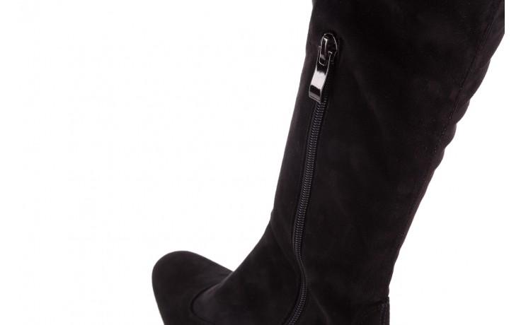 Kozaki bayla-130 4877 czarne kozaki muszkieterki, skóra ekologiczna - za kolano / muszkieterki - kozaki - buty damskie - kobieta 5
