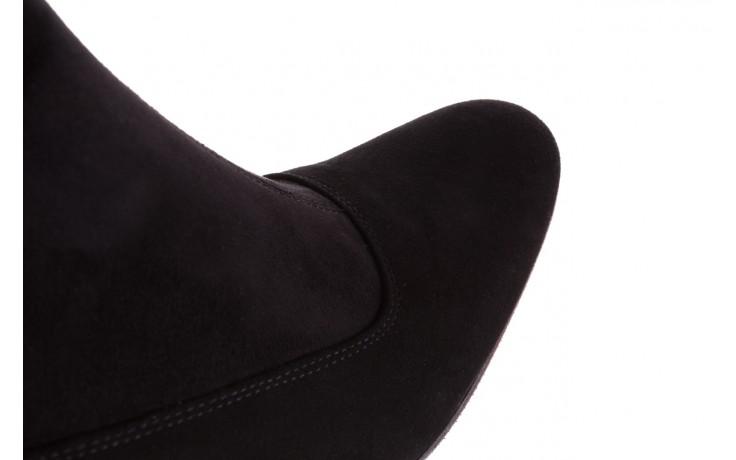 Kozaki bayla-130 4877 czarne kozaki muszkieterki, skóra ekologiczna - za kolano / muszkieterki - kozaki - buty damskie - kobieta 7