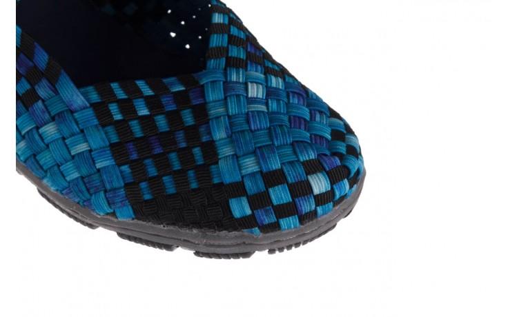 Półbuty rock cape town aqua blue smoke blk, niebieski, materiał - półbuty - buty damskie - kobieta 5