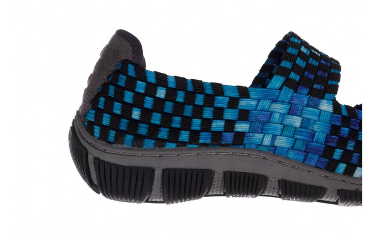 Półbuty rock cape town aqua blue smoke blk, niebieski, materiał - półbuty - buty damskie - kobieta 6