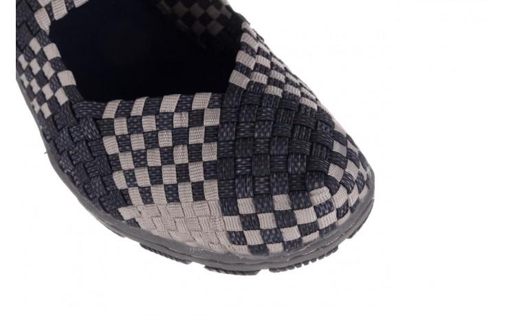 Półbuty rock cape town navy grey points smoke beige, szary, materiał - półbuty - buty damskie - kobieta 4