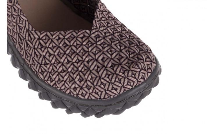 Półbuty rock over apricot smoke cof lines, beż, materiał - półbuty - buty damskie - kobieta 5