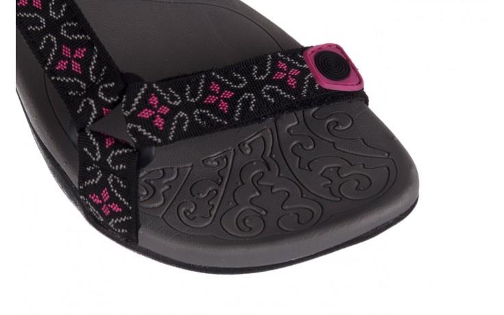 Sandały rock vinay black fuchsia, czarny/ róż, materiał - sandały - dla niej  - sale 5
