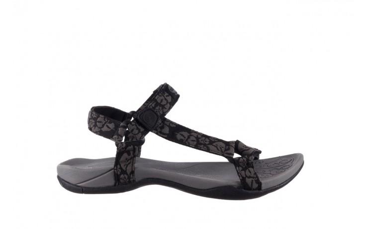 Sandały rock vinay black grey, czarny/ szary, materiał  - sandały - dla niej  - sale