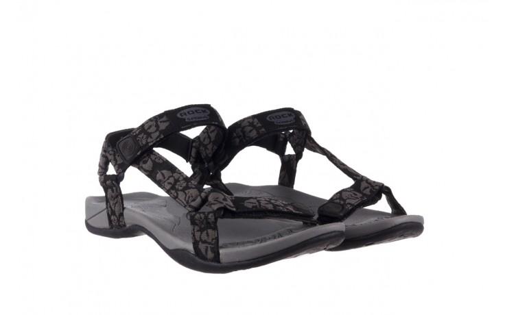 Sandały rock vinay black grey, czarny/ szary, materiał  - sandały - dla niej  - sale 1