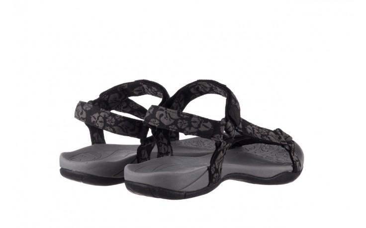Sandały rock vinay black grey, czarny/ szary, materiał  - sandały - buty damskie - kobieta 3