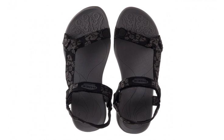 Sandały rock vinay black grey, czarny/ szary, materiał  - sandały - dla niej  - sale 4