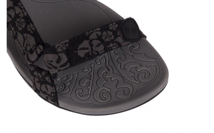 Sandały rock vinay black grey, czarny/ szary, materiał  - sandały - dla niej  - sale 5