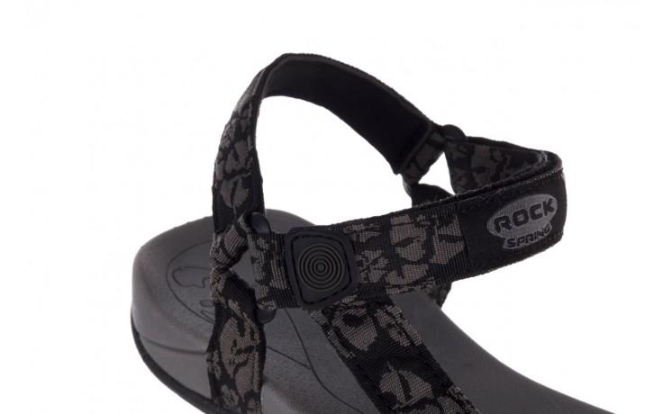 Sandały rock vinay black grey, czarny/ szary, materiał  - sandały - dla niej  - sale 6