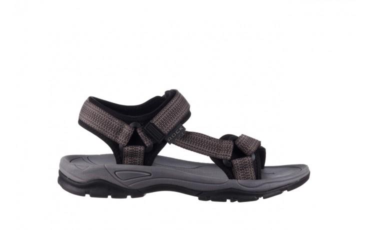 Sandały rock kern grey men, szary, materiał  - sandały - dla niego - sale