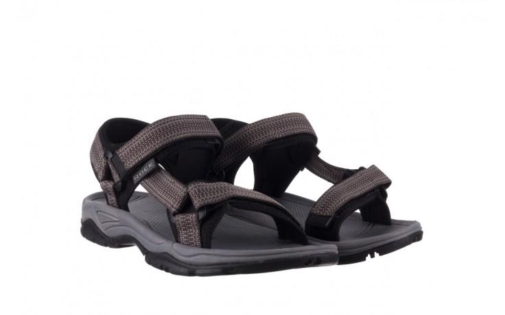 Sandały rock kern grey men, szary, materiał  - sandały - dla niego - sale 1